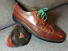 Excellent O'Sullivan IMPERIAL BROGUES Brown Size 11 C, Wing Tips Oxford Vintage