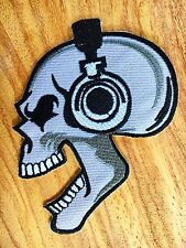Skull Sew Iron On Patch Embroidered Choppers Biker Applique Badge Motorcycle