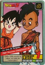 CARTE DRAGON BALL LE GRAND COMBAT N-¦704 LES AMIS DE SONGOKU POWER LEVEL 1