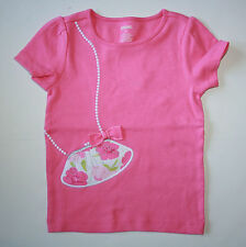 New Gymboree Fairy Garden Pink Top Floral Purse  Applique & Bow Size 3 Year NWT
