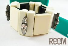 Authentic Marni for H&M Chunky Natural White Bracelet with Rhinestones