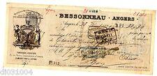 FRANCE BILLET à ORDRE MANDAT ANGERS  BESSONNEAU 1899 Cordages Ficelles FIL PECHE