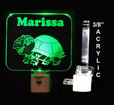 Handmade Personalized Kids Turtle Night Light, kids lamp, Animal Light -Gift