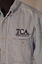 Vintage wrangler denim classique academy logo chemise taille m