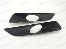 1Pair Front Bumper Fog Light Black Covers For Honda Accord Crosstour 2010