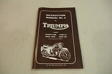 TRIUMPH  TWENTY ONE  T90 SPEED TWIN T100 GENUINE WORKSHOP MANUAL UP TO 1963