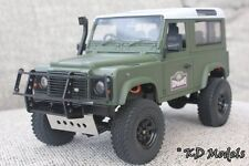 Black Bull Bar Bumper for Gelande 1/18 scale Landrover D90 Crawler RC4WD