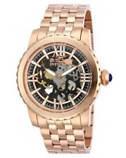 Invicta 14553 Specialty Mechanical 18K Rose Gold Plated Skeletonized Men's Watch