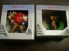 vintage Lot of 2 Applause Rudolph Mini Ornaments New in Boxes 1988