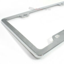 Chrome Elegant Metal Custom License Plate Tag Frame for Auto-Car-Truck-SUV