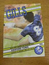 16/01/1990 Gillingham v Ashford Town [Kent Senior Cup] . Item in very good condi