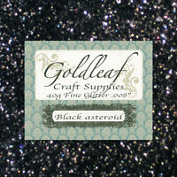Black Asteroid Nail Art Glitter Rockstar nails - craft glitter