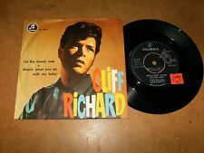 CLIFF RICHARD - I'M THE LONELY ONE - WATCH WHAT  - 45 PS / LISTEN - TEEN ROCK