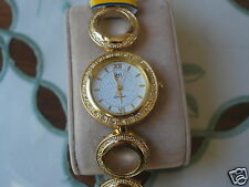 New Q&Q by Citizen Gold Tone Lady Dress Watch w/White Dial