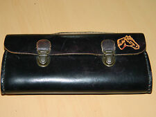 TROUSSE sacoche etui SAC cuir LEATHER Ledertasche LEDER bag CHEVAL horse PFERD