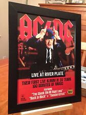 "1 FRAMED AC/DC ""LIVE AT RIVER PLATTE"" LP ALBUM CD DVD ""PROMO AD"" - 2 available!"