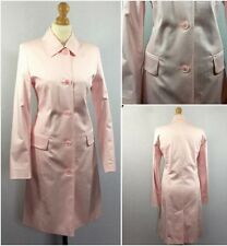 Next Ladies Baby Pink Cotton Vintage Retro Knee Length Raincoat Mac Coat UK 8