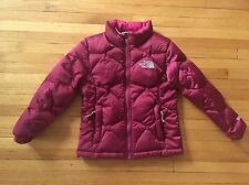 Girl's THE NORTH FACE Down Puffy Jacket 550 Fill, XS Pink Purple