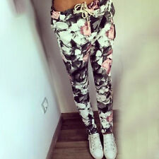 Fashion Womens Floral Printed Harem Pants Legging Sport Trouser Joggings Running