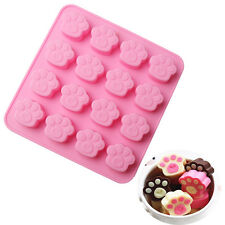Cute Cat Dog Paw Silicone Cake Chocolate Mold Candy,Soap,Jelly Ice Cube Molds