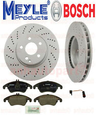 Mercedes-Benz FRONT BRAKE KIT  2 Front Disc Brake Rotors Meyle PADS SENSOR