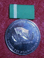 AX08 East German silver medal for 15 years service as a Volkspolizei helper