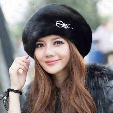 Winter Women Real New Mink Fur Hat Cap Headgear Beanie Beret QS 00024.1