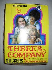 1978 THREE'S COMPANY WAX BOX (36 CARD PACKS) TOPPS