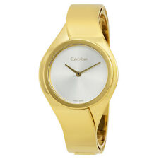 Calvin Klein Senses Silver Dial Ladies Watch K5N2M526