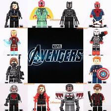 12pcs Iron man marvel Dc Comics Falcon Vision Ant-man Black Panther custom Lego