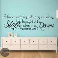 Vincent Van Gogh Sight Of The Stars Makes Me Dream Vinyl Wall Decal Sticker