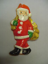 """Santa With Bag Of Toy's Paper Plastic Aisa Made In Mexico Around 5.2""""x3.5"""" Older"""