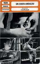 Movie Card. Fiche Cinéma. Le Chien Andalou. France 1928 Luis Bunuel