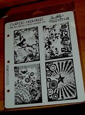 RUBBER CLING HOLTZ STAMPERS ANONYMOUS STAMPS CMS055 ECLECTIC PALETTE wk CTMH blk