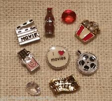 MOVIES POPCORN CANDY COKE Floating Charms& Origami Owl Stardust Crystal