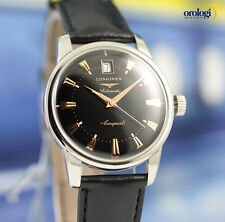 Longines Conquest Heritage Steel on Black Leather Automatic Watch L1.611.4.52.2