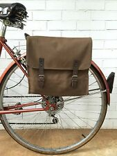 Vintage Brown Canvas Military Surplus Style Messenger Bag Bicycle Pannier