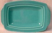 HOMER LAUGHLIN china HARLEQUIN Turquoise pattern BUTTER TRAY