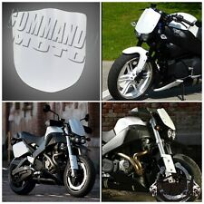 White Universal Motorcycle Fly Screen Windscreen Windshield For Harley Honda Hot