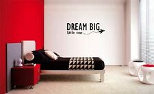 DREAM BIG LITTLE ONE AIRPLANE DECAL WALL VINYL DECOR STICKER BEDROOM CHILDREN