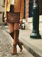 Free People Liberty Heel Boot Size 10 New Green/Brown Suede MSRP: $228
