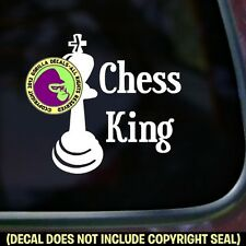 CHESS KING Board Game Piece Set Play Love Car Window Sign Vinyl Decal Sticker