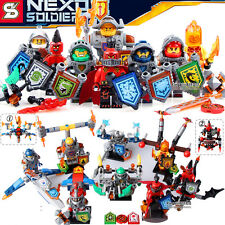 8pcs NEXO Knights Armor Jestro Scurrier Moltor diy Minifigures Kids Toys Gifts