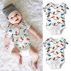 Newborn Infant Baby Girl Boy Short Sleeve Rompers Jumpsuit Outfits Costume 0-18M