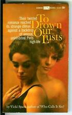TO DROWN OUR LUSTS by Spain, rare US Domino sleaze lesbian gga pulp vintage pb