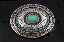 Nocona  BLAZIN ROXX SILVER PLATED TOPAZ AND OPAL BELT BUCKLE 37975