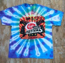 Virgin Mobile Festival 2008 Tshirt TyeDye FooFighters KanyeWest BobDylan Mens XL