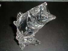 Princess House 24% Lead Crystal Bass Fish Clear Glass  Figurine
