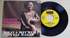 """ESTHER PHILLIPS - WHAT A DIFF'RENCE A DAY MAKES - 45 GIRI 7"""" ITALY PRESS"""