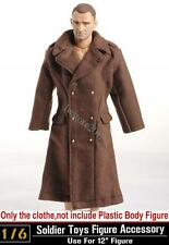 "1:6 Dragon WWII US Army Brown Overcoat Soldiers Clothing For 12"" Action Figure"